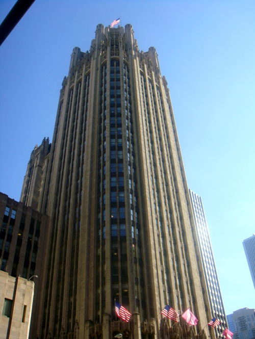 chicago tribune building. the chicago tribune building.
